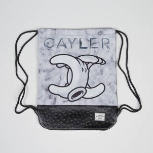 Worek Cayler & Sons WL No.1 Gymbag white marble / black WL-CAY-AW16-GB-15