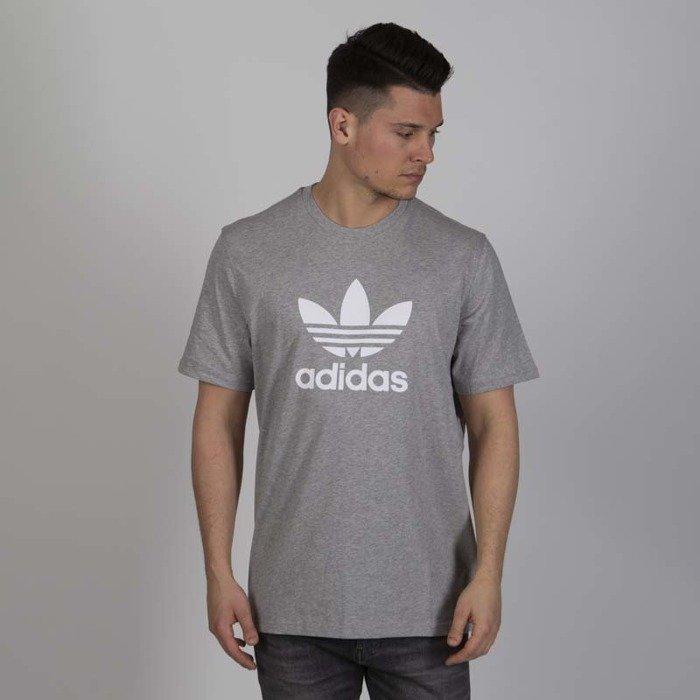 Adidas Originals Koszulka Trefoil T shirt medium grey heather
