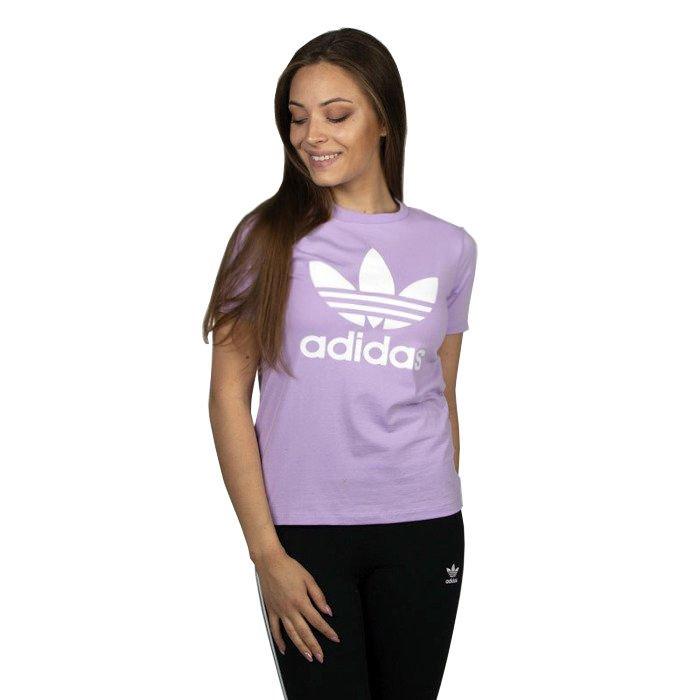 Adidas Originals koszulka damska Trefoil Tee purple glow