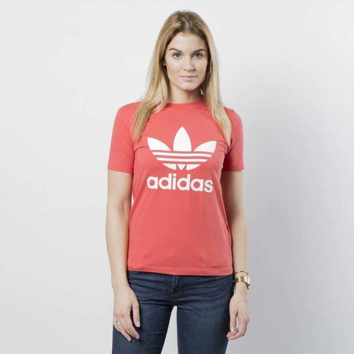 Adidas Originals koszulka damska Trefoil Tee trace scarlet white CV9890