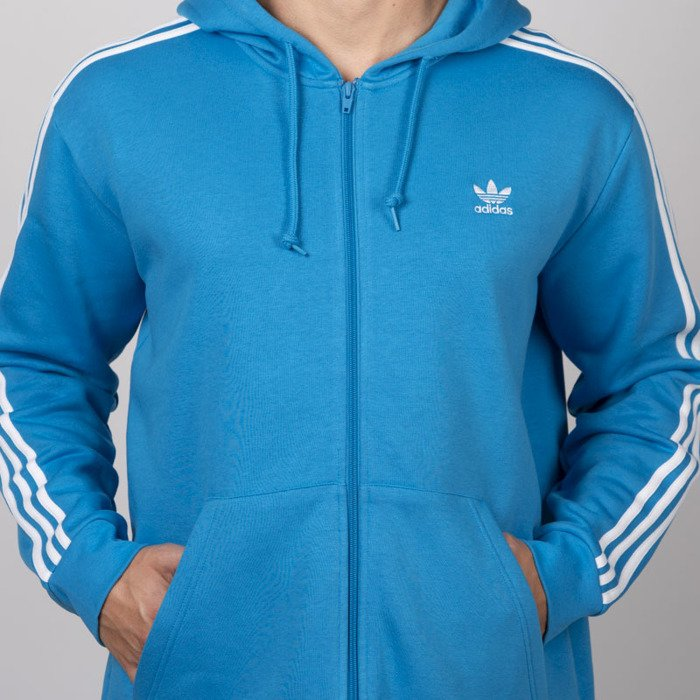 Bluza Adidas Originals 3 Stripes FZ shock cyan