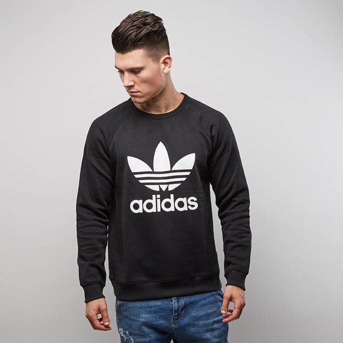 b8080190d ... Bluza Adidas Originals Sweatshirt Trefoil Crewneck black AY7791 ...