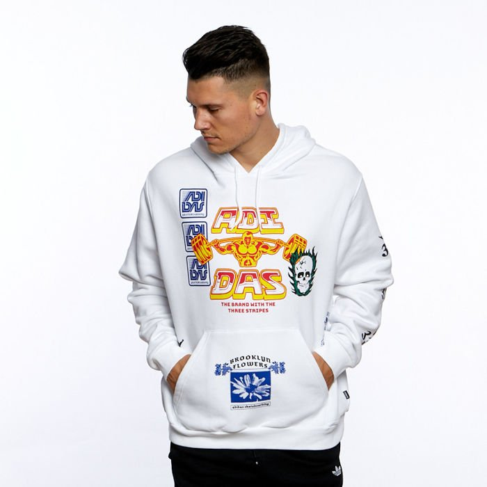 Bluza Adidas Originals Testprint Hoodie whitemulticolor