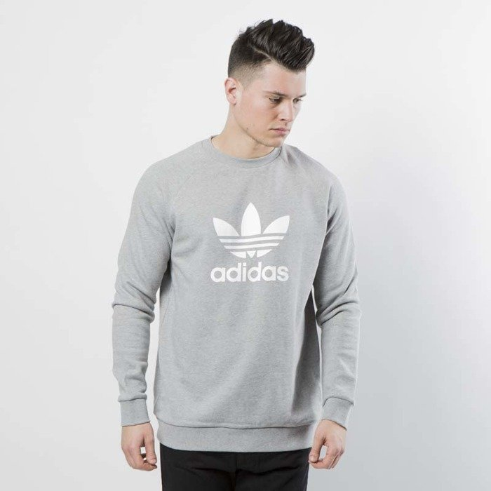 Bluza Adidas Originals Trefoil Crew medium grey heather CY4573