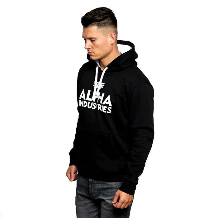 Bluza Alpha Industries Foam Print Hoody black white
