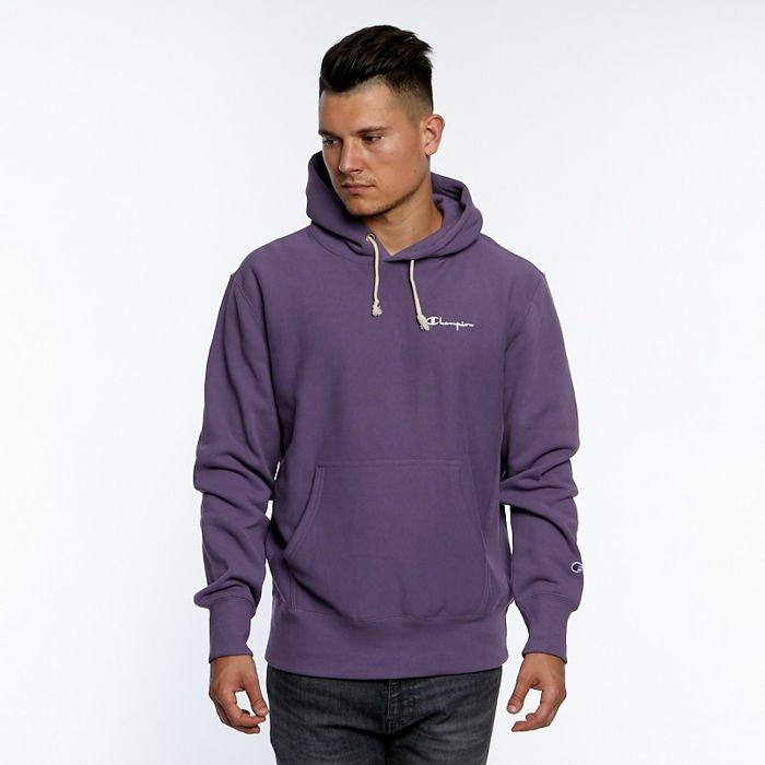 nieźle klasyczne style wykwintny styl Bluza Champion Small Script Logo Reverse Weave Hoodie violet