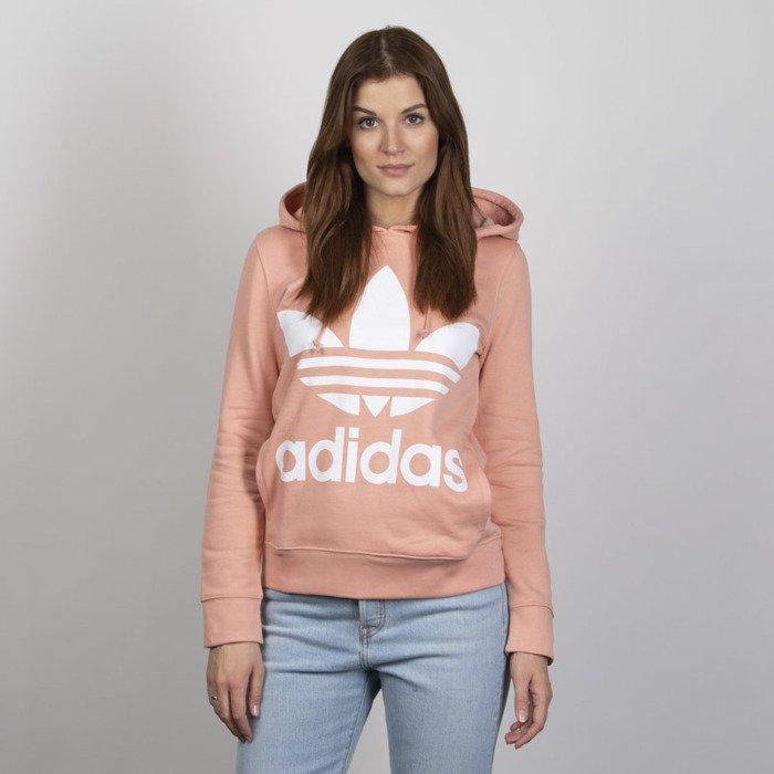 Bluza Damska Adidas Originals Trefoil Hoodie dust pink