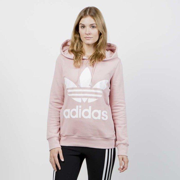 Bluza Damska Adidas Originals Trefoil Hoodie pink spirit