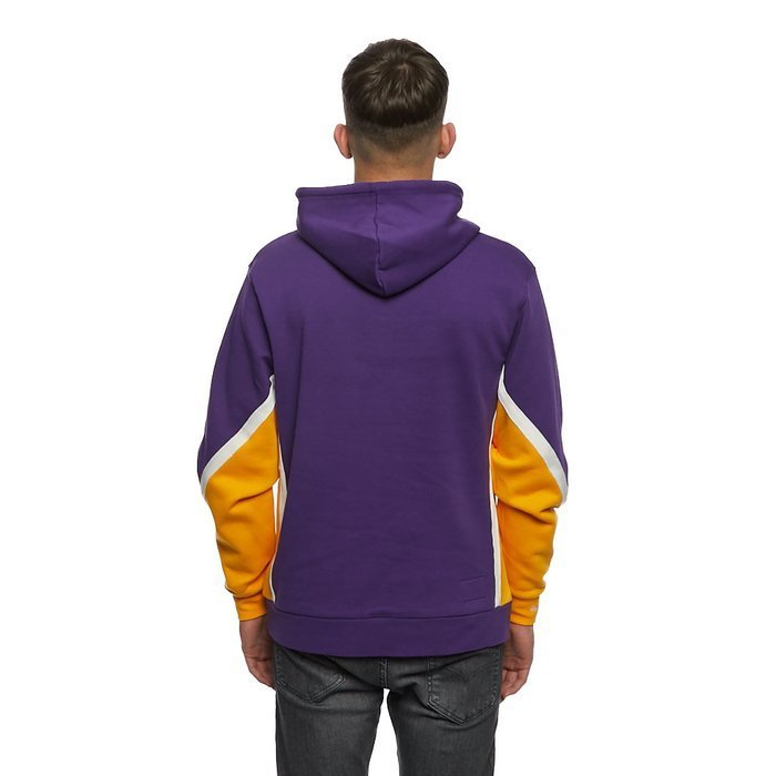 Bluza Mitchell & Ness Los Angeles Lakers purple Final Seconds Fleeve Hoody