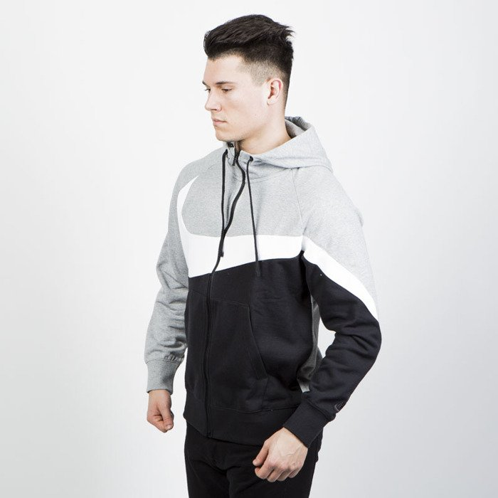 Bluza Nike NSW HBR Hoodie black grey heather (AR3084 063)