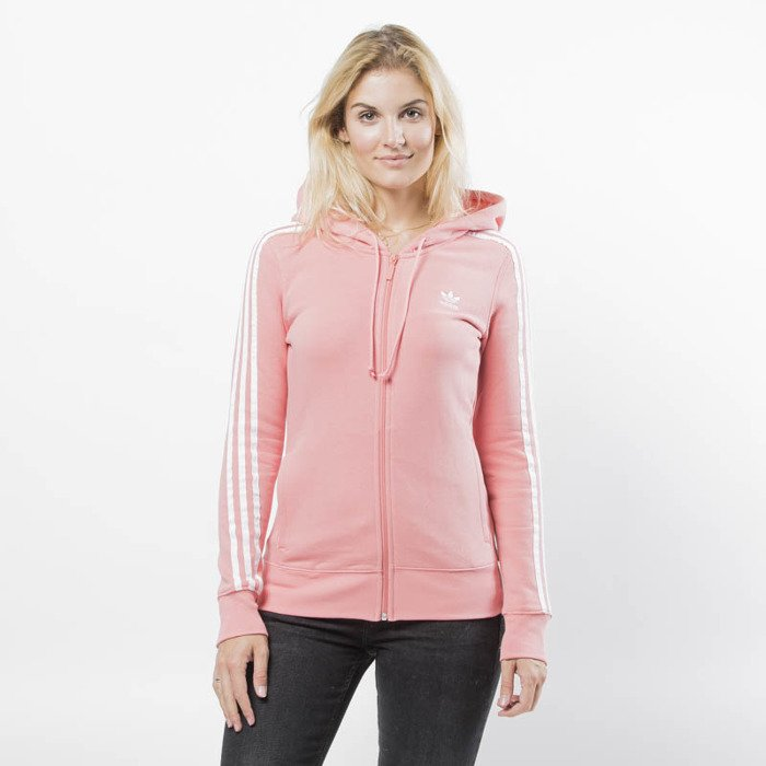 763bda01 Bluza damska Adidas Originals 3 Stripes Zip Hoodie tactile rose (DN8150)