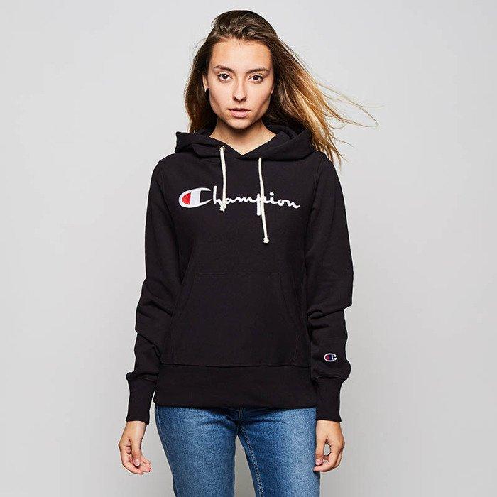 Wielka wyprzedaż kupować nowe słodkie tanie Bluza damska Champion Sweatshirt Reverse Weave Hoody black WMNS  110429/S18/KK001