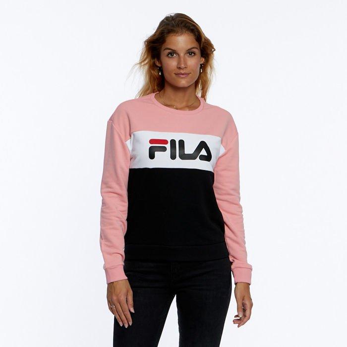 nowy autentyczny Nowe Produkty sprzedaż hurtowa Bluza damska Fila Leah Crew Sweat Women black-quarz pink-bright white