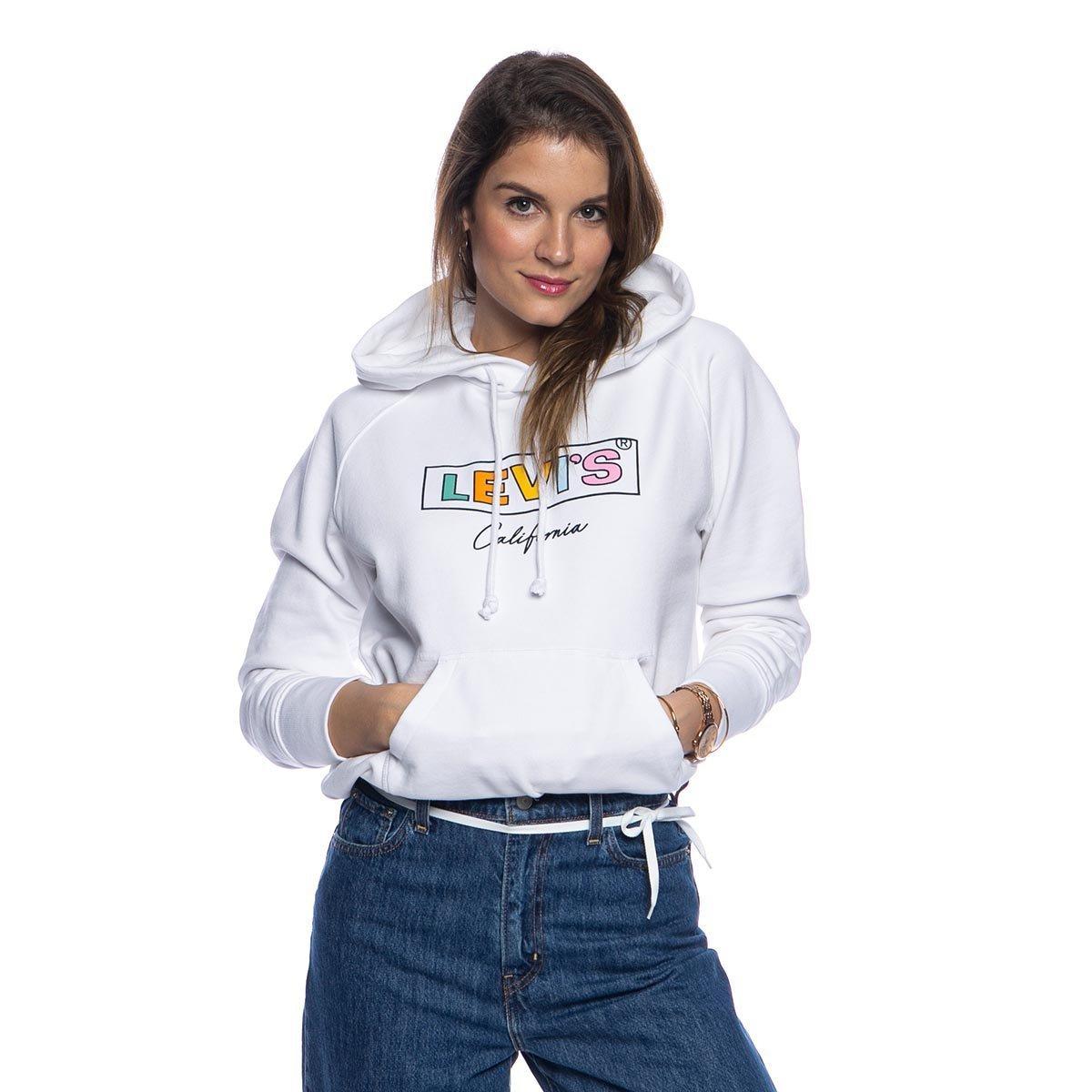 Bluza damska Levi's Graphic Sport Hoodie biała