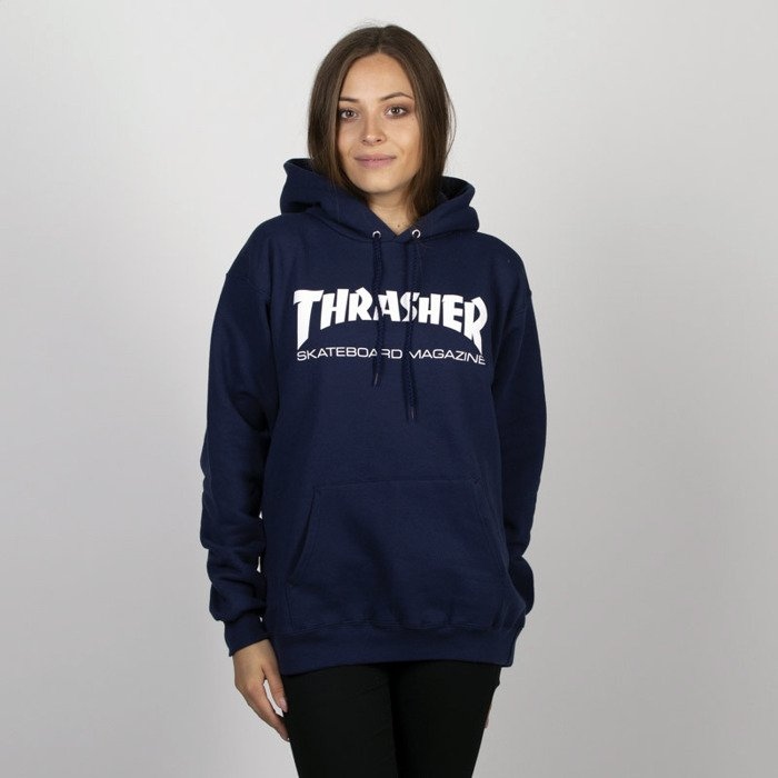 bluza thrasher hoodie blue