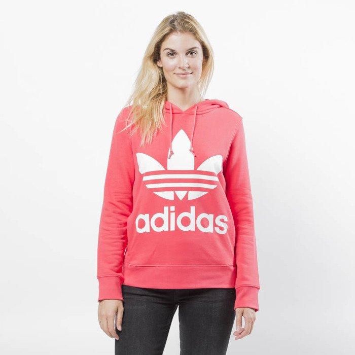 Bluza sweatshirt Adidas Originals Trefoil Hoodie core pink (DH3136)