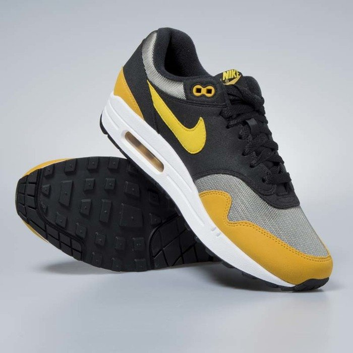 Buty Nike Air Max 1 dark stucco vivid sulfur black AH8145 001