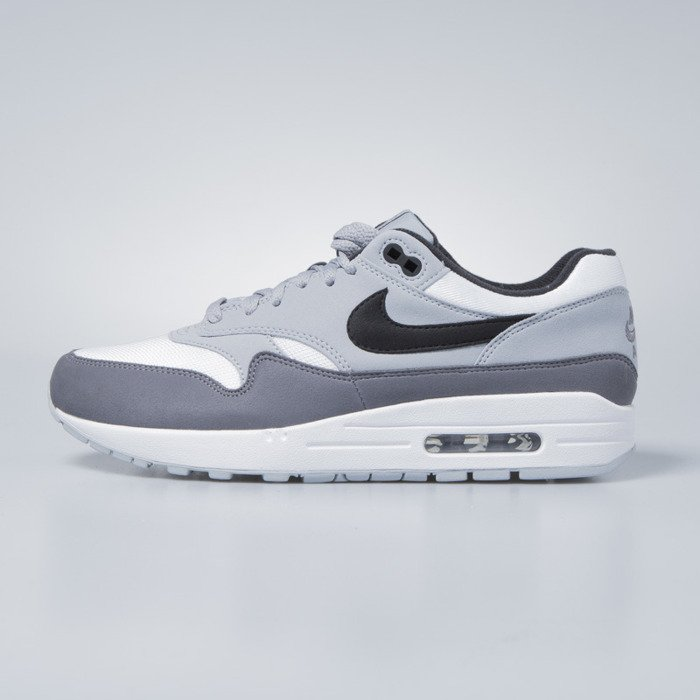 official photos 583d9 f5e22 ... Buty Nike Air Max 1 white  black - wolf grey - gunsmoke AH8145-101 ...