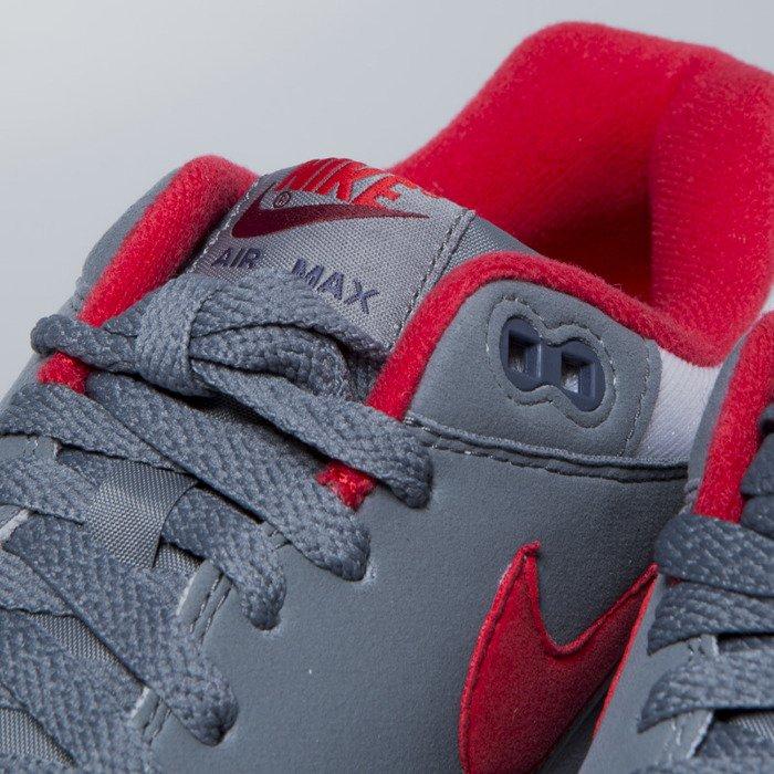 c9cd39b02723 ... Buty Nike Air Max 1 white   university red - cool grey AH8145-100 ...