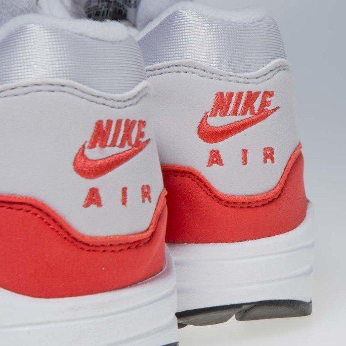 Buty damskie Nike Air Max 1 vast grey habanero red 319986 035