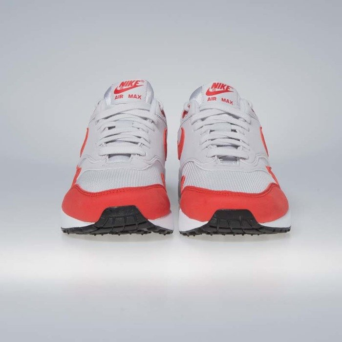huge selection of 9768d 360e6 ... Buty damskie Nike Air Max 1 vast grey  habanero red 319986-035 ...