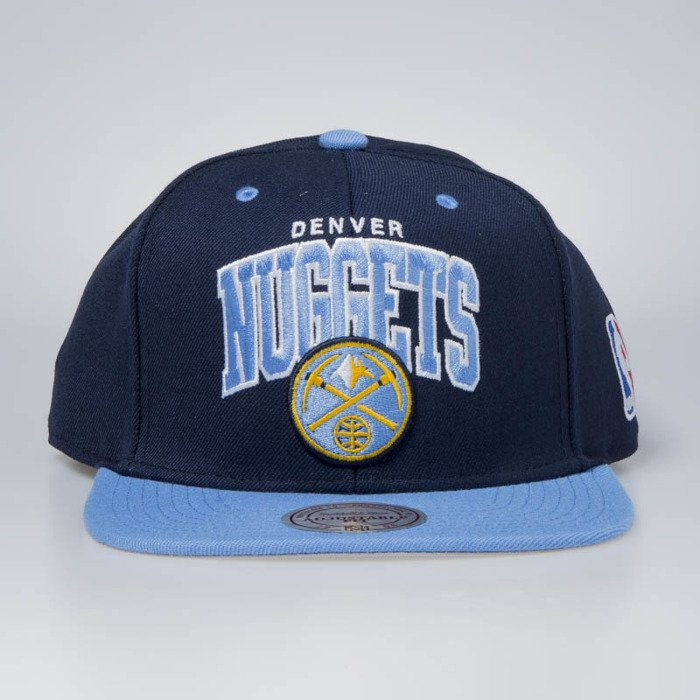 Mitchell /& Ness Snapback Denver Nuggets Team Arch 2/Tone Navy//Blue