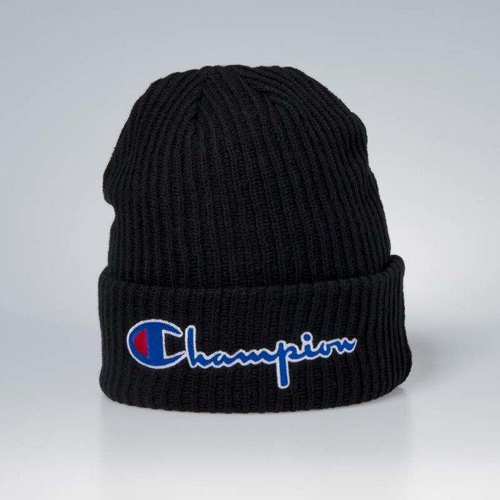 ... Czapka zimowa Champion Big Logo Beanie black ... 6fd772783cd