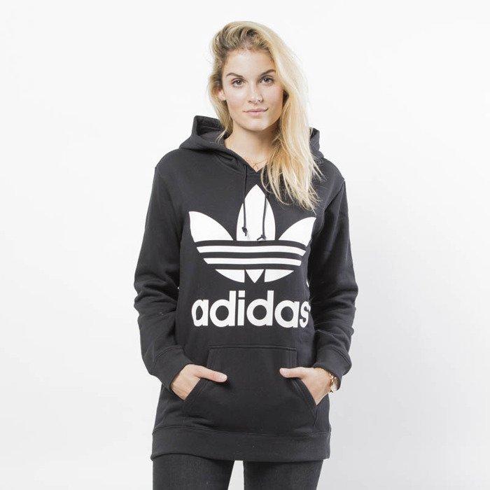 911002aa Damska bluza sweatshirt Adidas Originals Trefoil Hoodie black (DJ2094)
