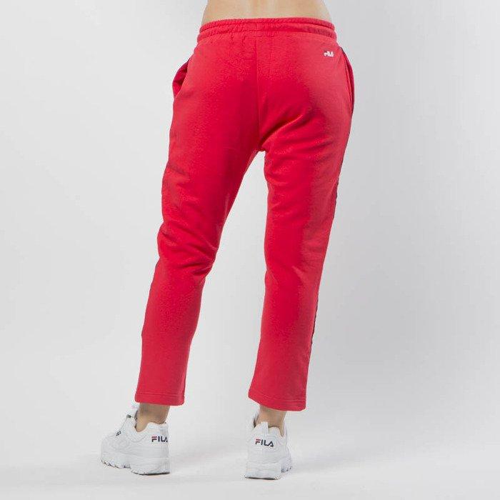 Czerwone Dresy Adidas Sportowe Markowe Baggy Sweatpants
