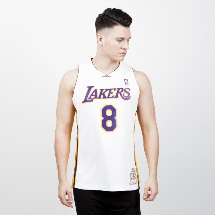huge discount 51c8b 97697 Jersey Mitchell & Ness Los Angeles Lakers #8 Kobe Bryant white Authentic  Jersey