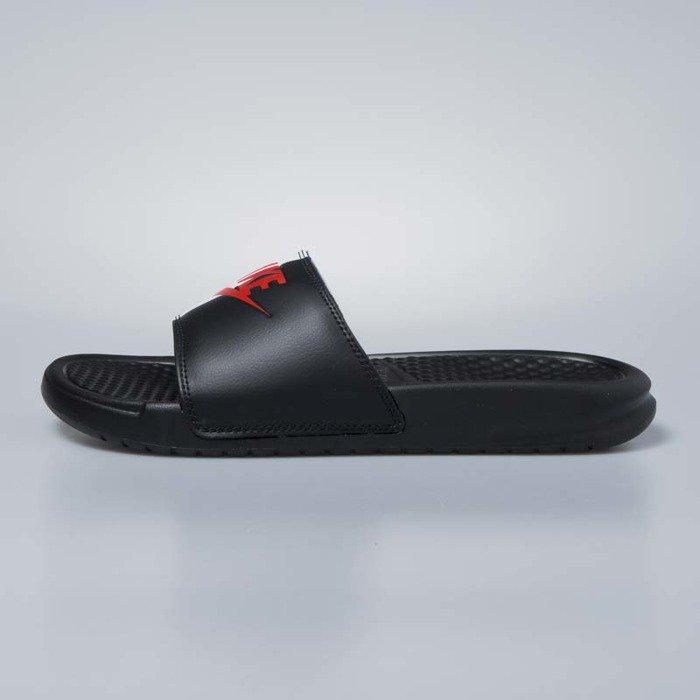 buy popular 3db81 adbec ... Klapki Nike Benassi JDI black   game red - white 343880-006 ...