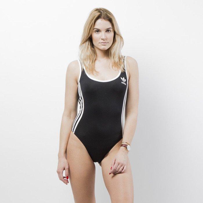 1d6cddac2f64cb ... Kostium kąpielowy Adidas Originals 3-Stripes Body black CE5600 ...