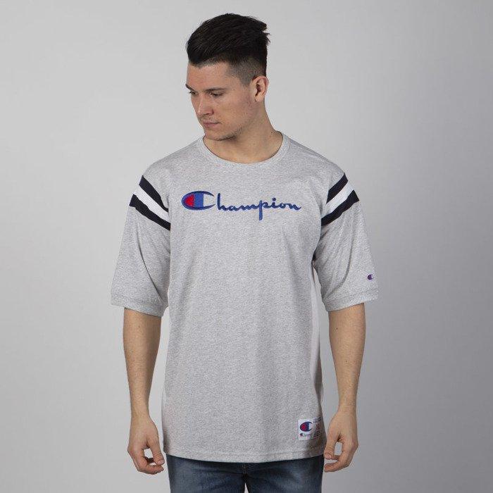 d90b33275f628e ... Koszulka Champion Script Logo American Football T-shirt grey heather ...
