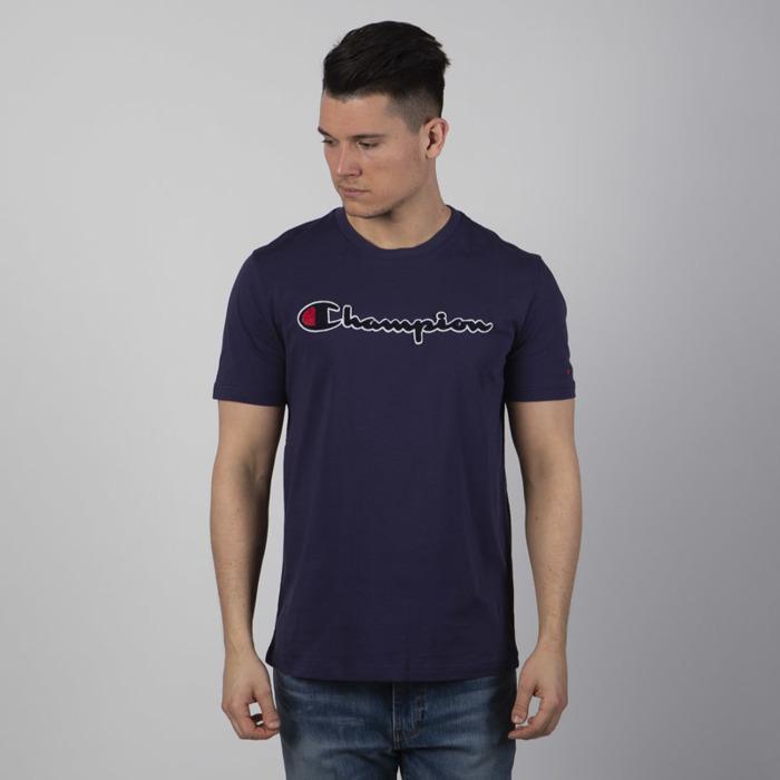 Koszulka Champion t shirt Logo Script Rochester navy
