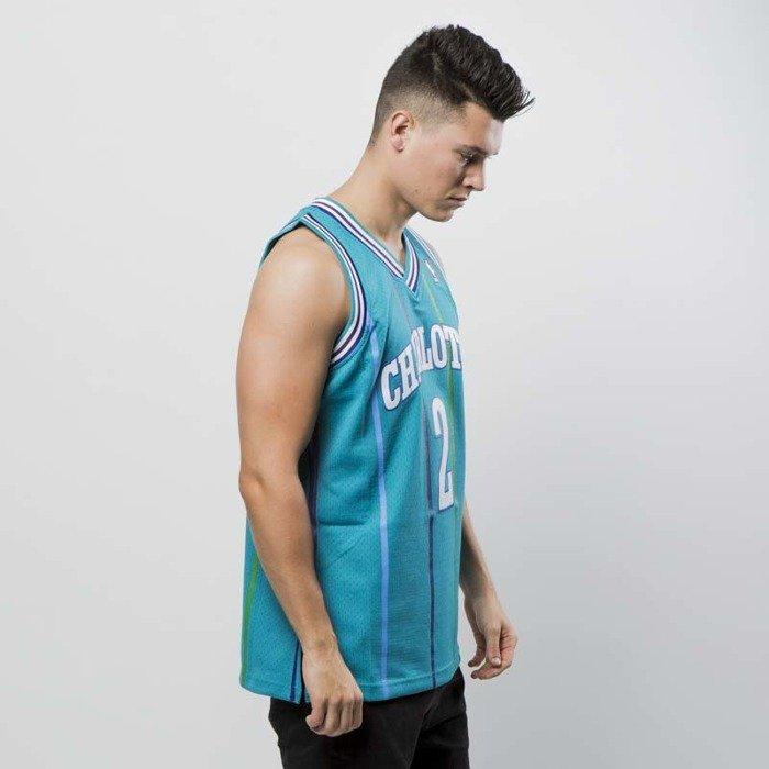 ... Koszulka Mitchell   Ness Charlotte Hornets  2 Larry Johnson blue  Swingman Jersey ... 56b7e71c6