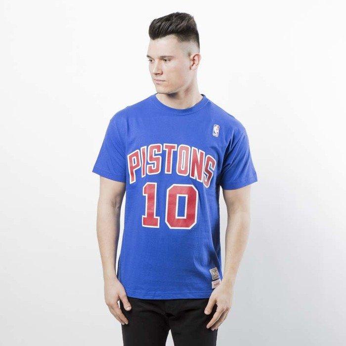 31f7547fb10 ... Koszulka Mitchell   Ness Detroit Pistons  10 Dennis Rodman T-shirt  royal Name ...