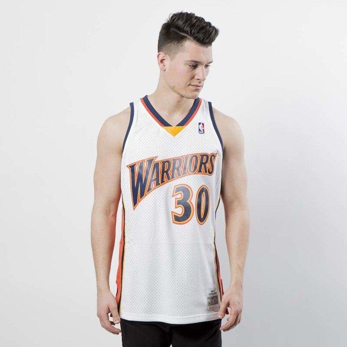 official photos 08169 3b823 Koszulka Mitchell & Ness Golden State Warriors #30 Stephen Curry white /  orange Swingman Jersey