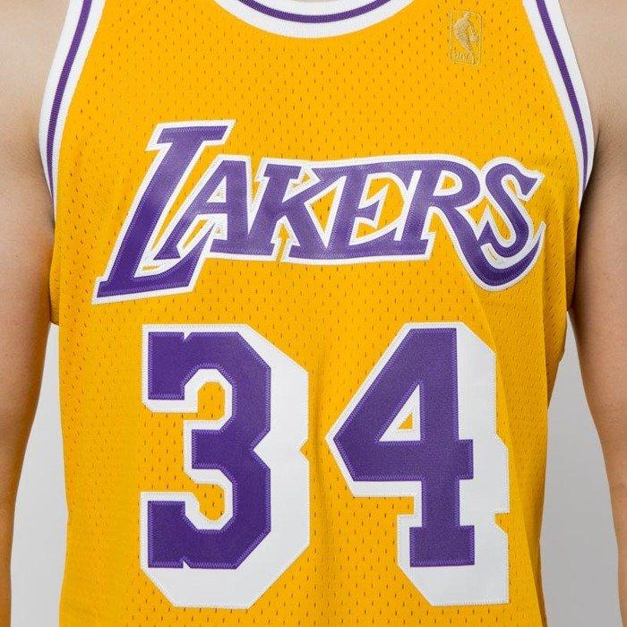 94578c8346cb ... Koszulka Mitchell   Ness Los Angeles Lakers  34 Shaquille O Neal yellow  Swingman Jersey ...