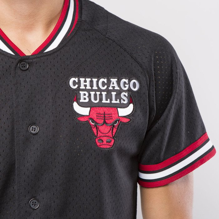 ... cheap koszulka mitchell ness jersey chicago bulls black seasoned pro  mesh button front 21f9c a4004 495864215
