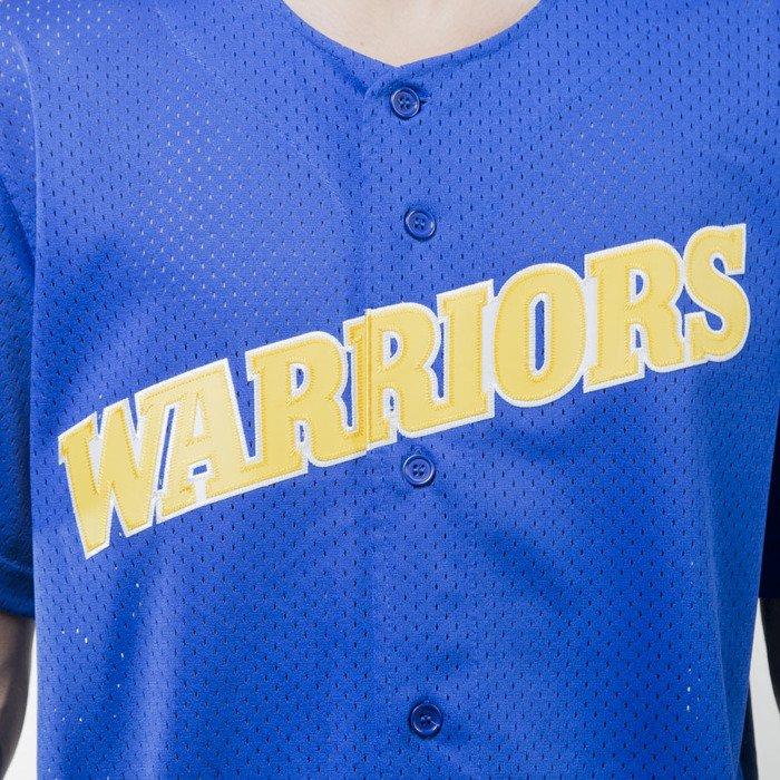 ... Koszulka Mitchell   Ness jersey Golden State Warriors royal Mesh Button  Front ... dc9d1f925