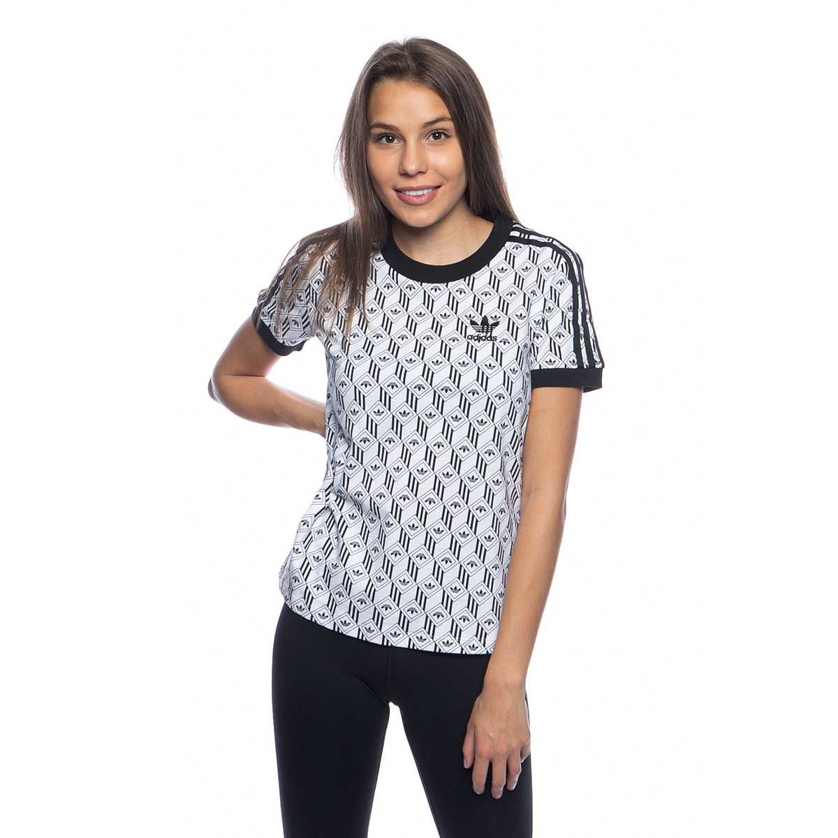 Koszulka damska Adidas Originals 3 Stripes Tee black