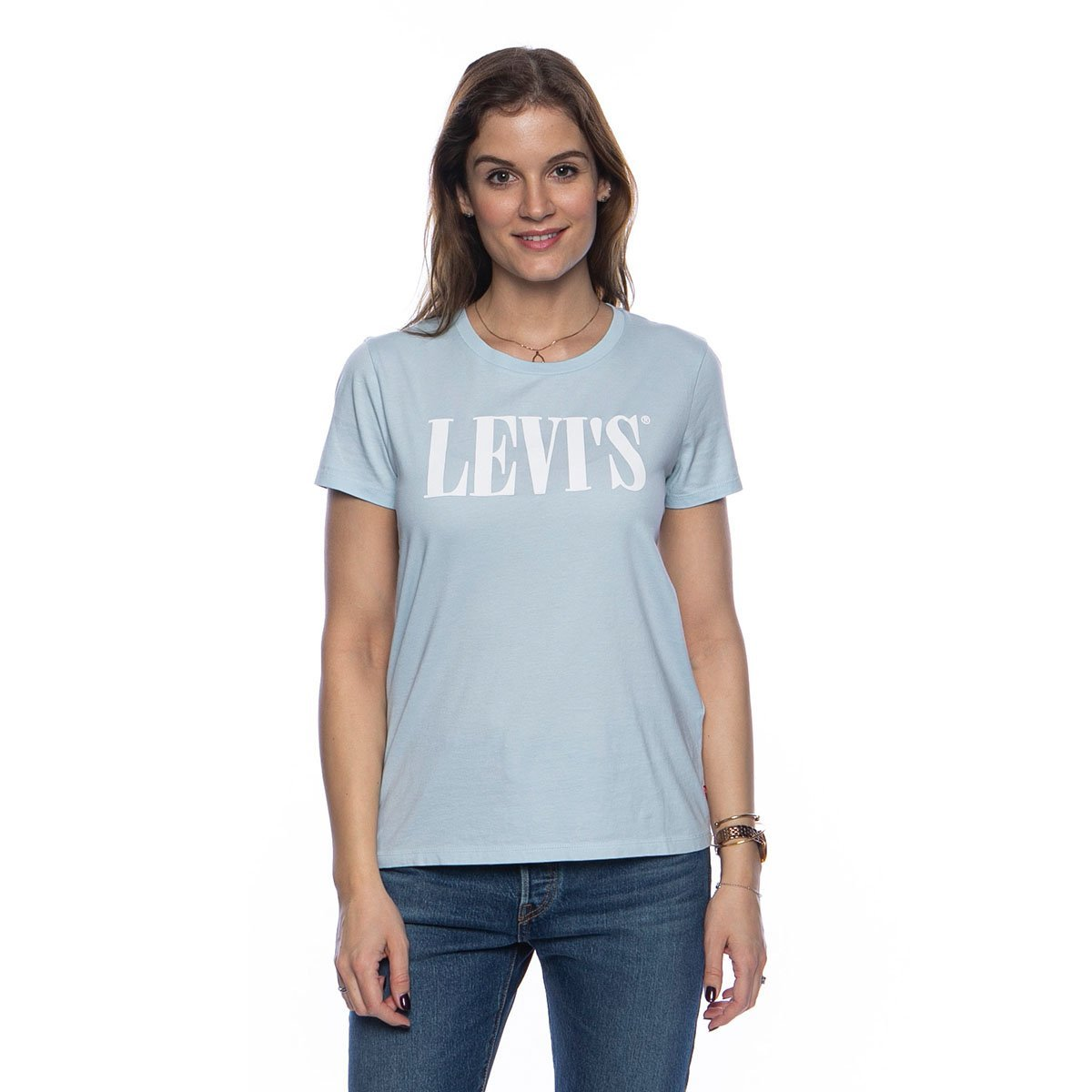 Levi's THE PERFECT 90'S TEE SERIF BABY BLUE