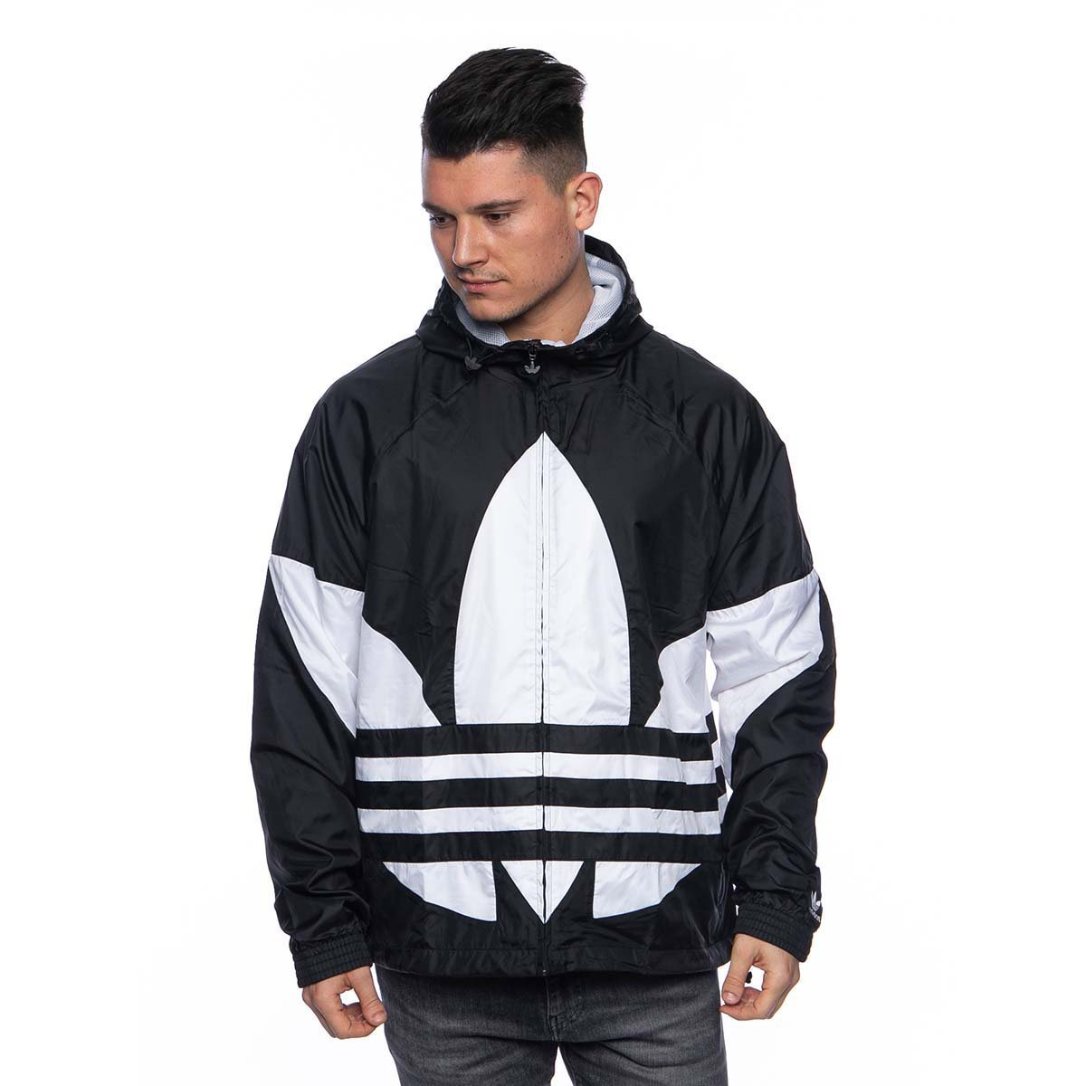 Kurtka Adidas Originals Big Trefoil Windbreaker Jacket black