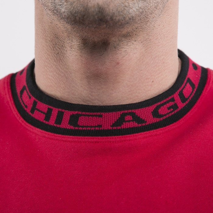 28ba51ed0b37a ... Mitchell   Ness bluza Chicago Bulls crewneck red Excessive Celebration  ...