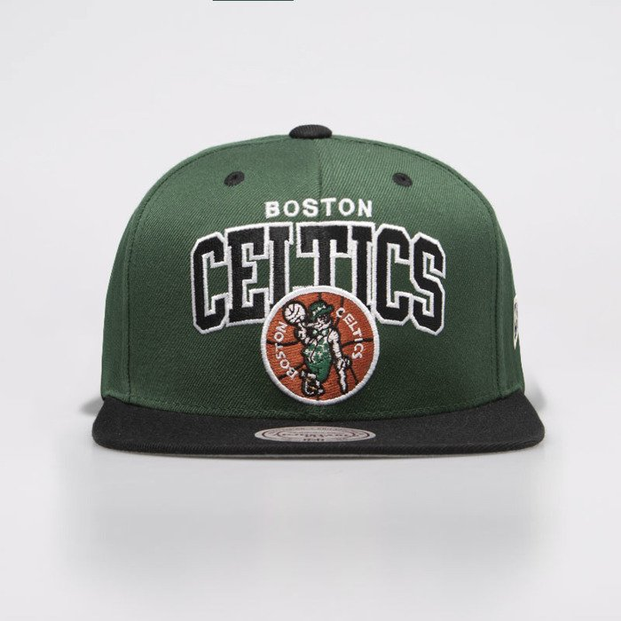huge discount ca202 d5203 ... Mitchell   Ness czapka snapback Boston Celtics green   black HWC Team  Arch Snapback ...