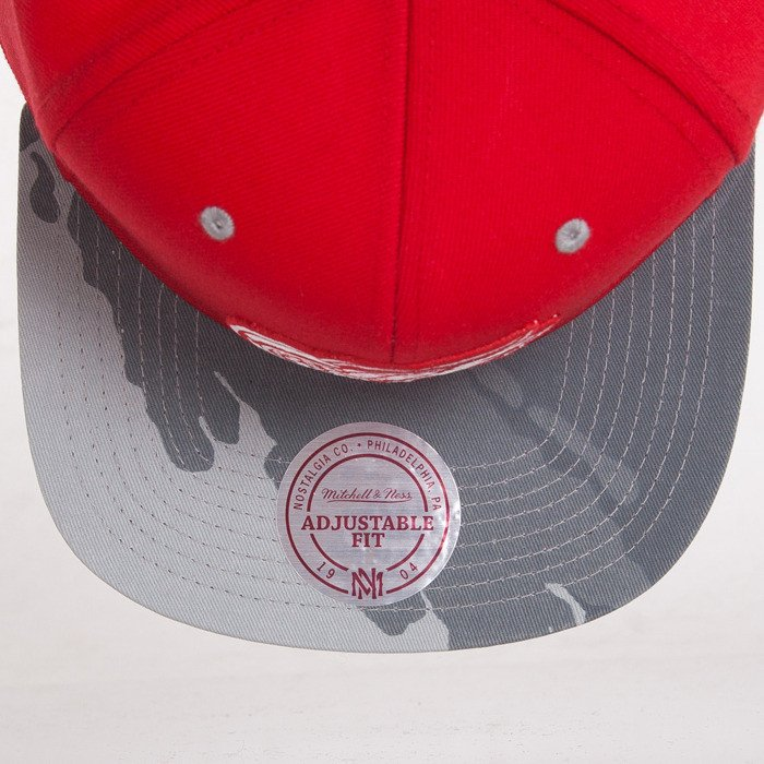 83e894c7637 Mitchell   Ness czapka snapback Detroit Red Wings red Paint Brush EU149 ...