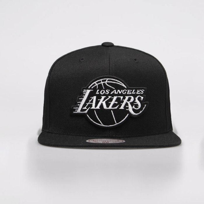 more photos bc679 2df6b ... Mitchell   Ness czapka snapback Los Angeles Lakers black   white Wool  Solid Snapback ...