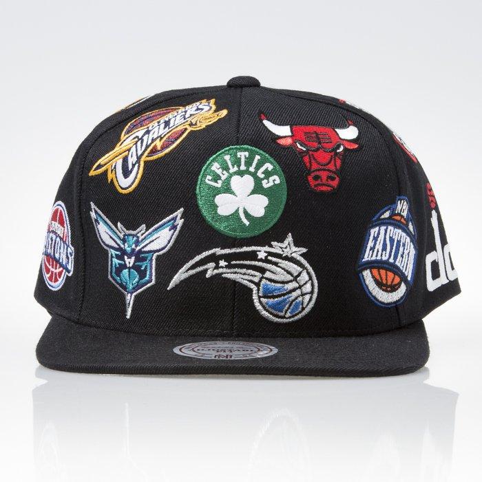 ... Mitchell   Ness czapka snapback NBA Eastern black ALL OVER EU879 ... 37353baee26