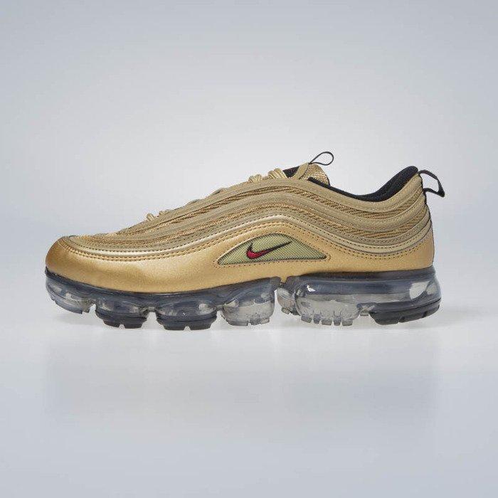 Sneakers Buty Air VaporMax 97 metallic goldvarsity red (AJ7291 700)