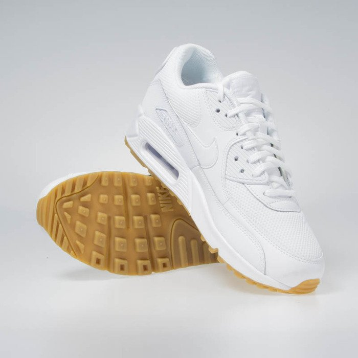 Sneakers Buty Nike WMNS Air Max 90 whitewhite gum light brown (325213 135)